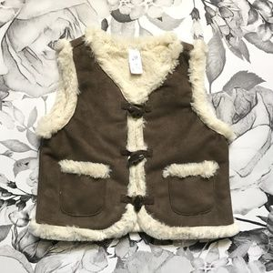 Softest Faux Fur Baby Gap Toggle Vest